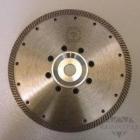 """Алмазный диск по граниту """"Турбо"""" с полуфланцем, Ø=230 мм (на болгарку)"""