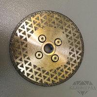 Алмазный диск по мрамору с фланцем М14, Ø=105 мм