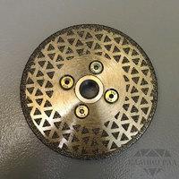 Алмазный диск по мрамору с фланцем М14, Ø=115 мм