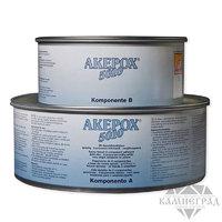 Двухкомпонентный густой клей Akepox-5010 (Akemi, Германия), прозрачный,1,0 + 1,25 кг