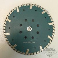 Алмазный диск по граниту с фланцем М14, Ø=230 мм (с широким когтем)