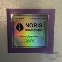 Золото сусальное 1,25 г, Noris, Русский Стандарт (91,5 мм), 23 к, 10 листов